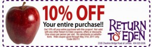 Return to Eden Coupon