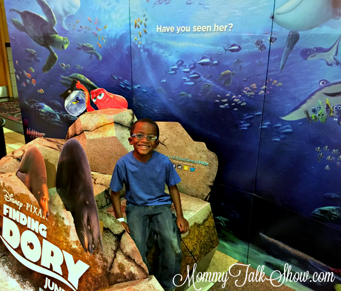 A.J. at Finding Dory Preview