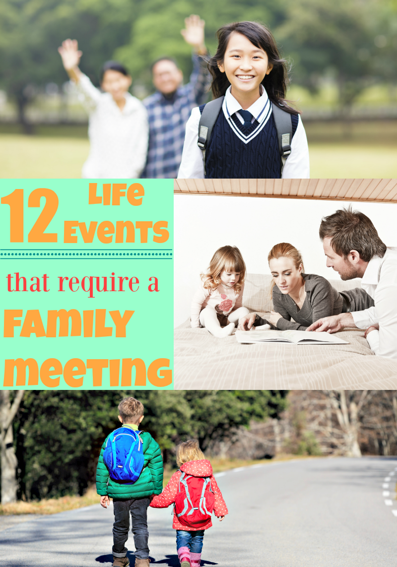 12 Life Events that Require a Family Meeting