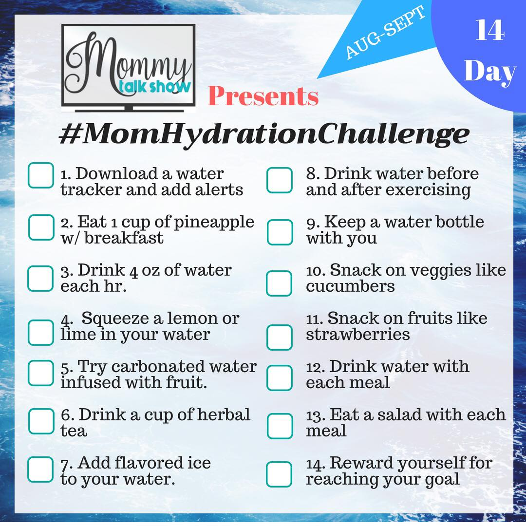 Why Moms Need a Healthy 14 Day Hydration Challenge