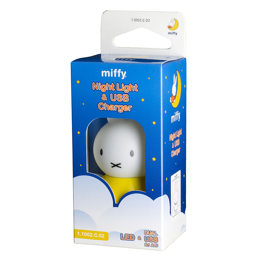 Miffy Night Light and USB Charger Yellow