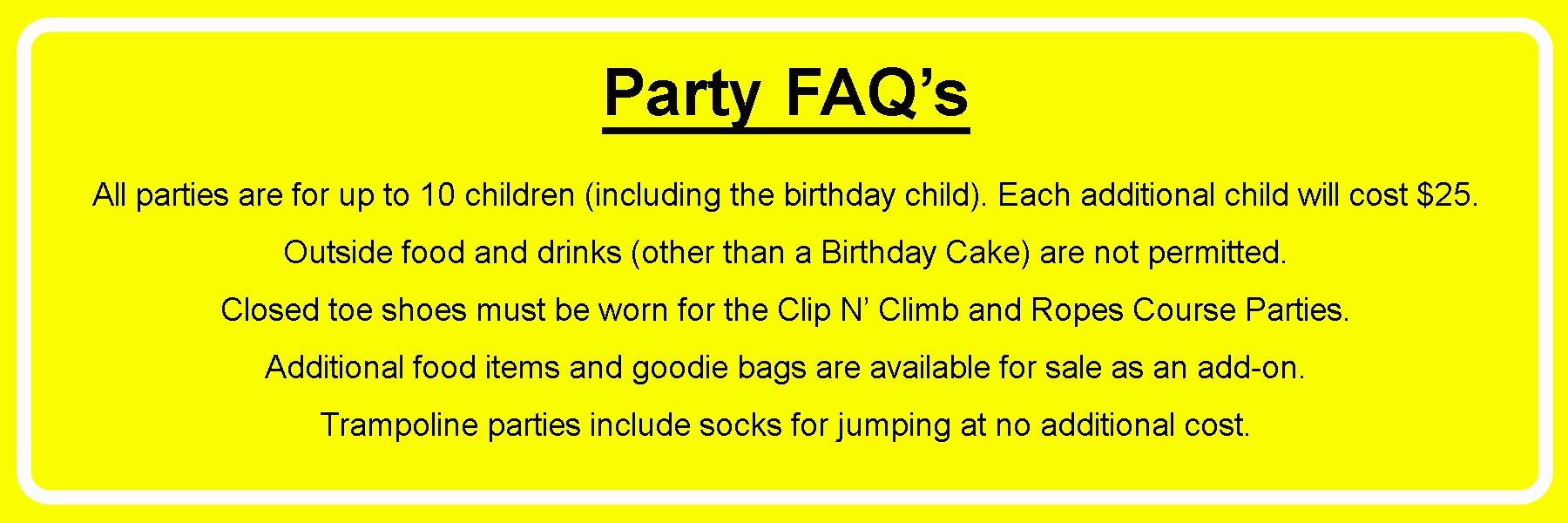 Party FAQs