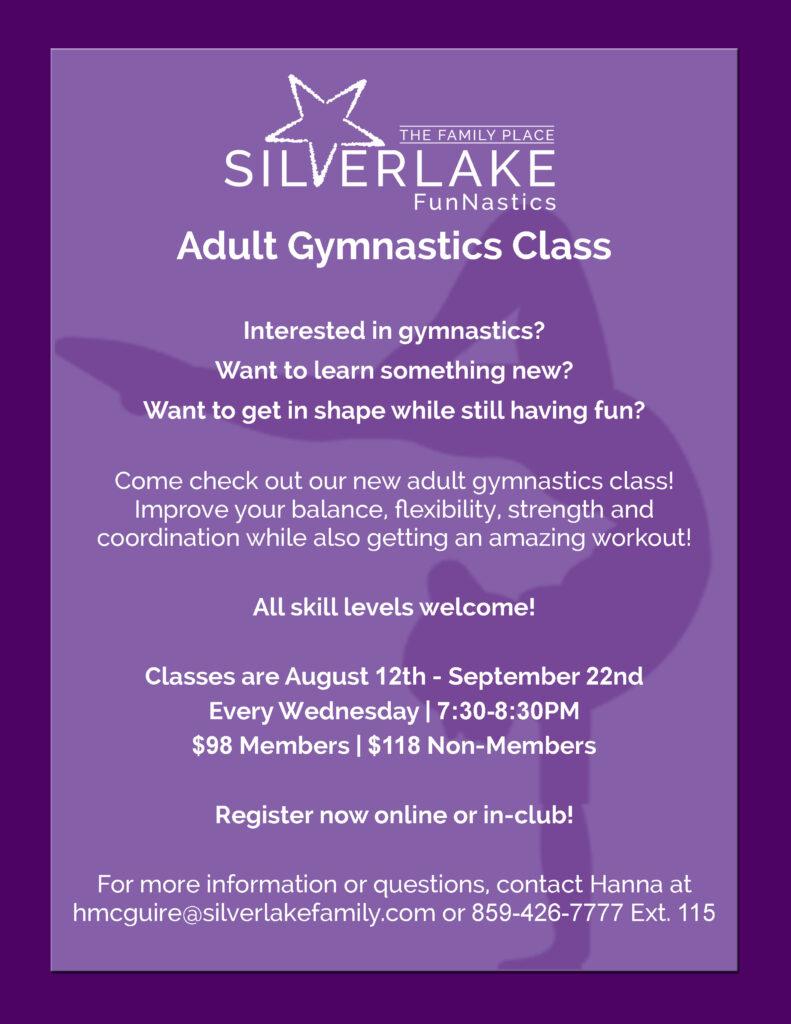 Adult Gymnastics Class Flyer