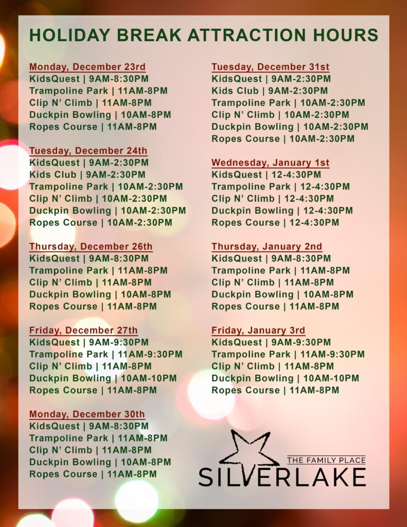 Holiday Break Hours 2019