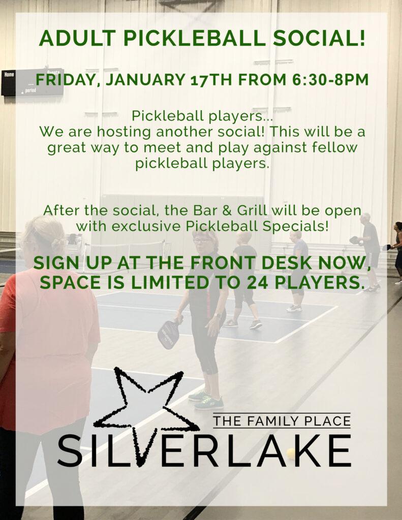 Pickleball Social Flyer Jan 17th