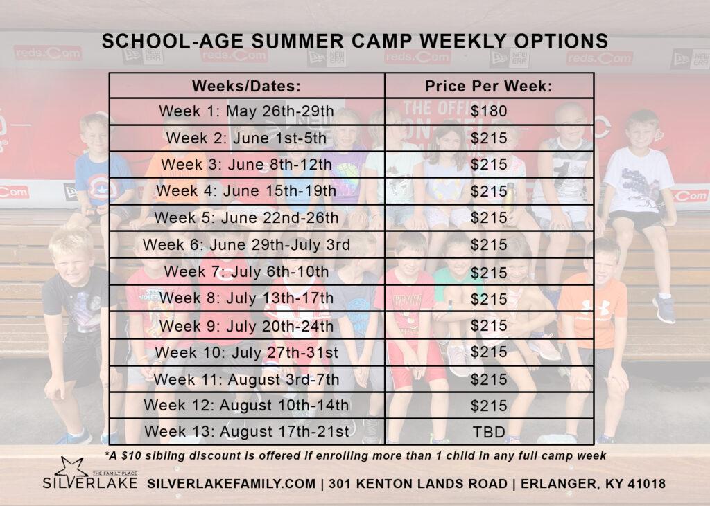 School Age Summer Camp Card 2019