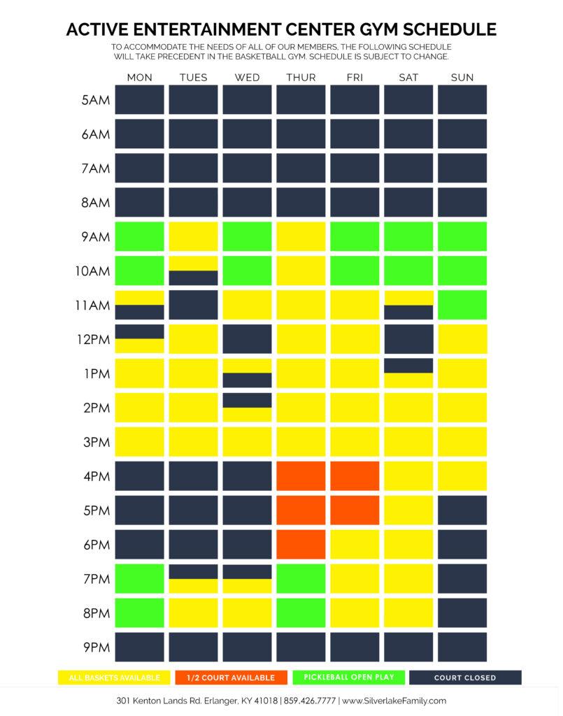 AEC Gym Winter 2020 Schedule