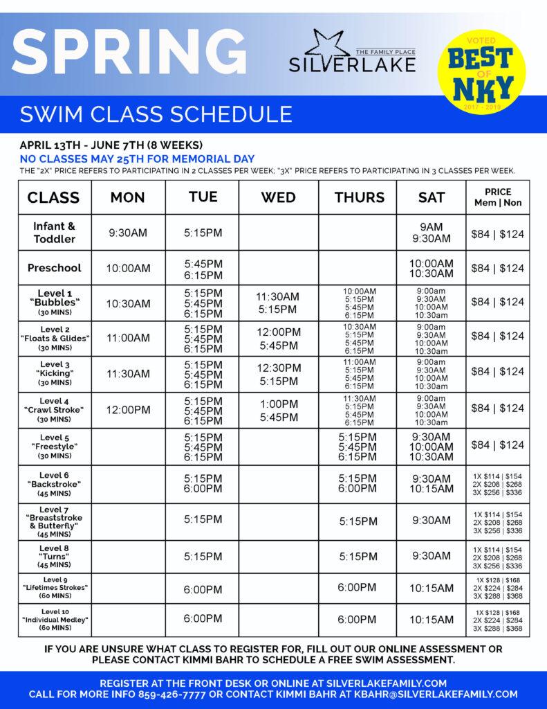 Spring 2020 Swim Sheet Front