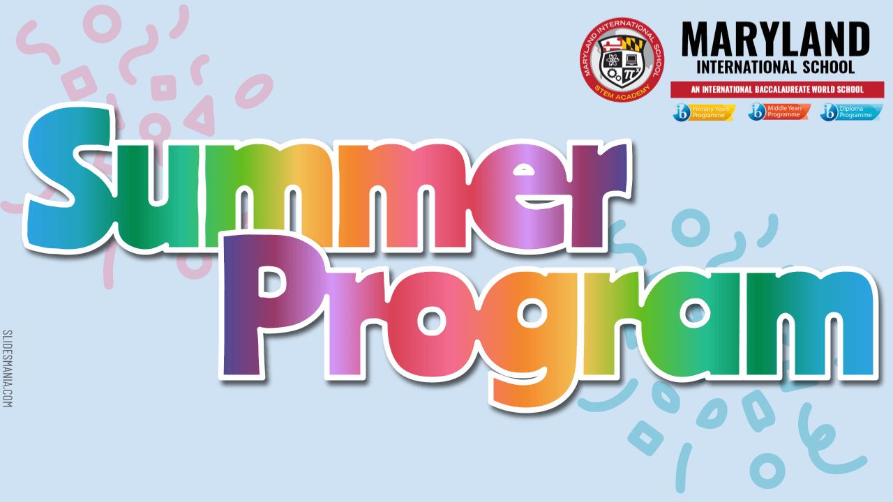 2020 MDIS Summer Program Options