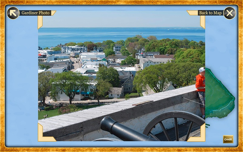 Interactive Touch Screen - Gardiner's Photos - Mackinac State Historic Parks