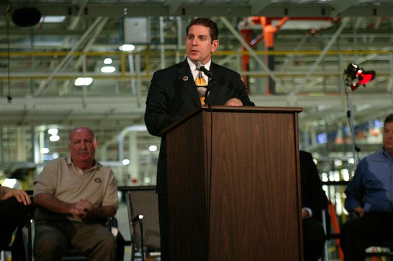 Lansing Mayor Virg Bernero at Lansing Grand River Plant's 5th Year Anniversary event on October 20, 2006.