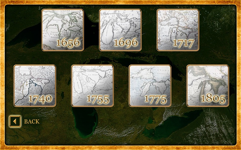 """Future Media Corporation used client-supplied photos to design an interactive touch screen program """"Gardiner's Photos"""" & """"Mapping the Great Lakes"""" for the Mackinac State Historic Parks."""