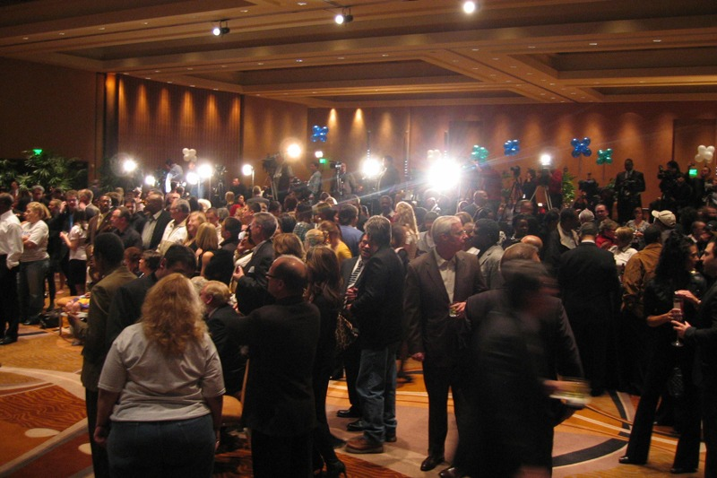Lansing Mayor Virg Bernero talks to reporters after his concession speech for the 2010 Michigan Governor election race. Future Media Corp. provided the executive teleprompter system for Virg Bernero's speech.