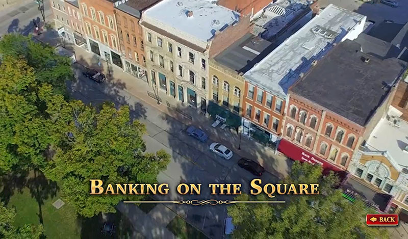 """The Historical Society of Quincy and Adams County Illinois - touch screen video """"Banking On The Square"""""""