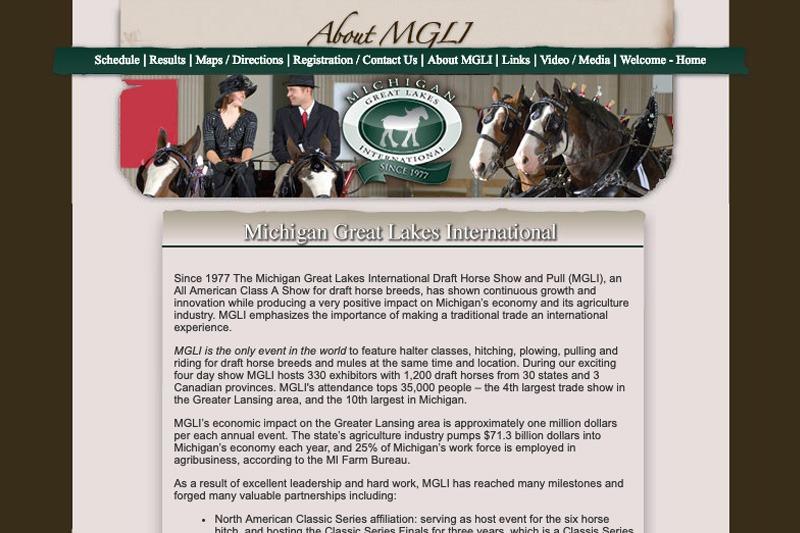 MGLI.org – About MGLI page, designed by Future Media Corporation