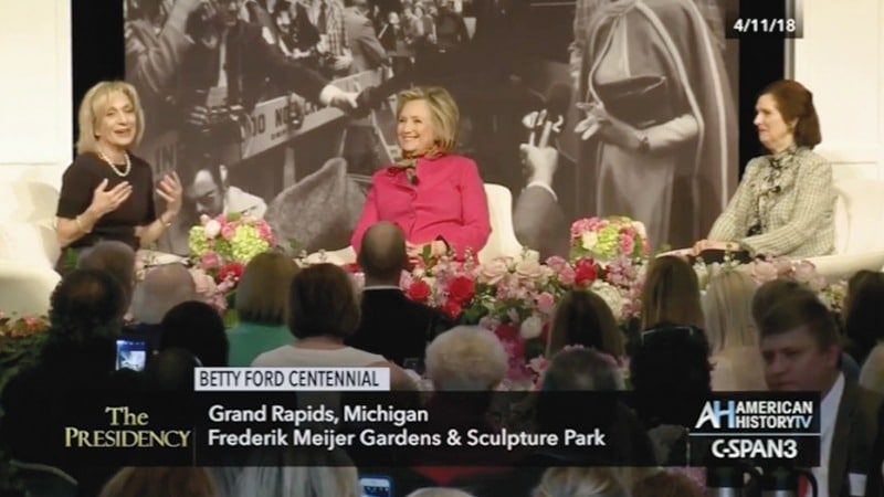 C-SPAN - Betty Ford Centennial – Andrea Mitchell speaking, Grand Rapids Michigan