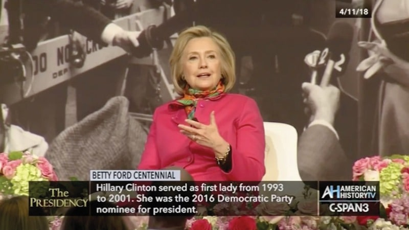 C-SPAN - Betty Ford Centennial – Hillary Clinton speaking, Grand Rapids Michigan