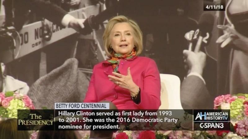 C-SPAN - Betty Ford Centennial – Hillary Clinton speaking, Grand Rapids Michigan