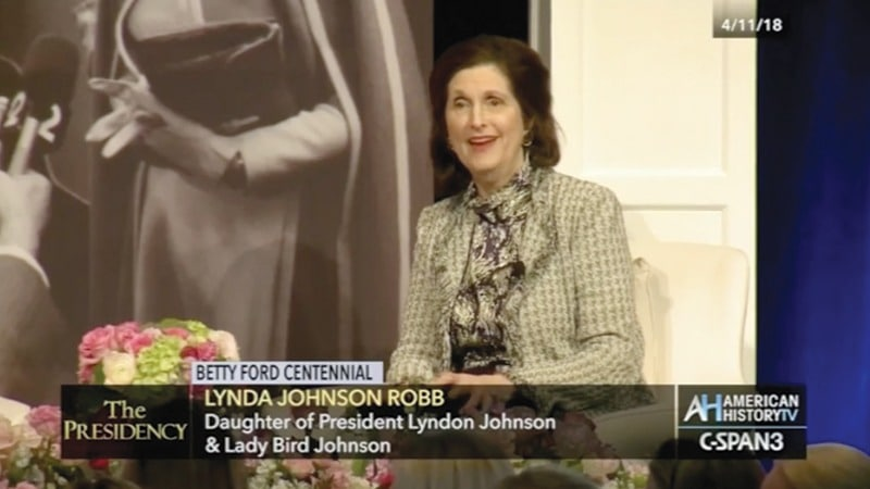 C-SPAN - Betty Ford Centennial - Lynda Johnson Robb speaking, Grand Rapids Michigan