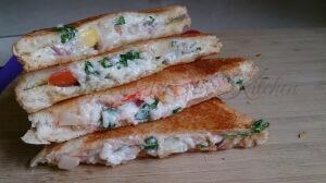Leftover Rice Sandwich