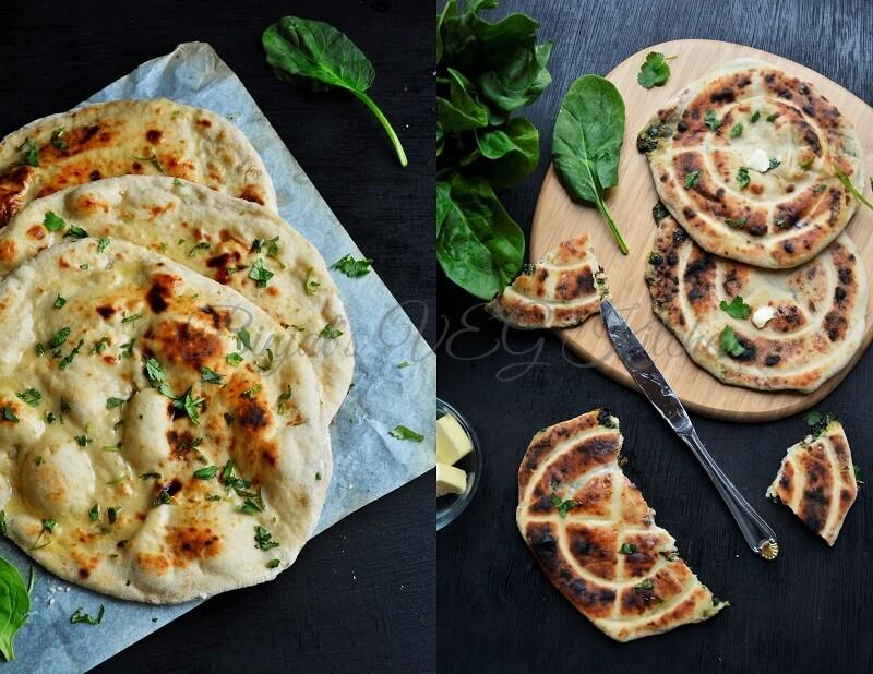 Stuffed Cheesy Spinach Naan