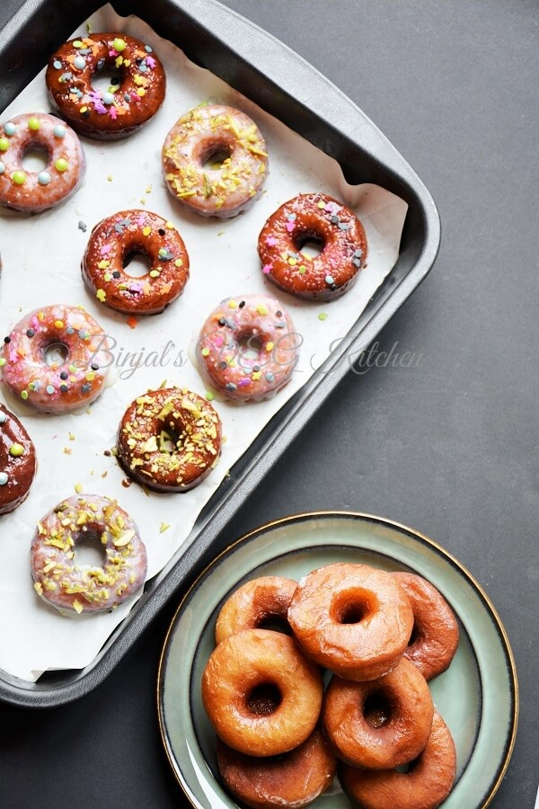 Homemade Eggless Donuts or Doughnuts