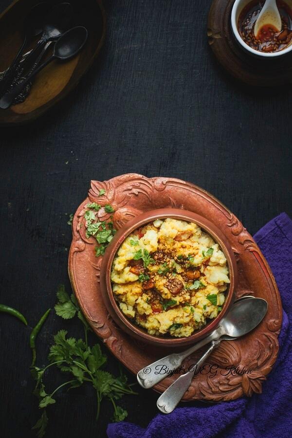Rice Flour Khichu Photography