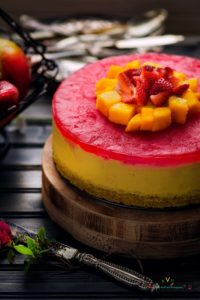 No Bake Eggless Mango Cheesecake