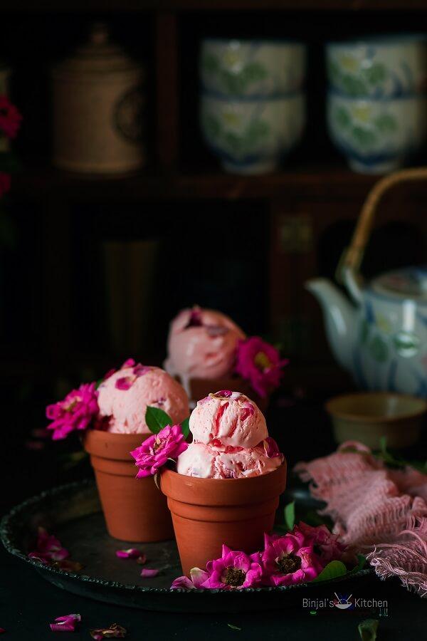 Rose Ice Cream Photography