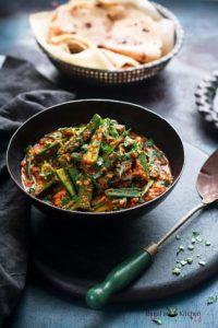 Achari Dahi Bhindi Recipe (Punjabi Sabji)