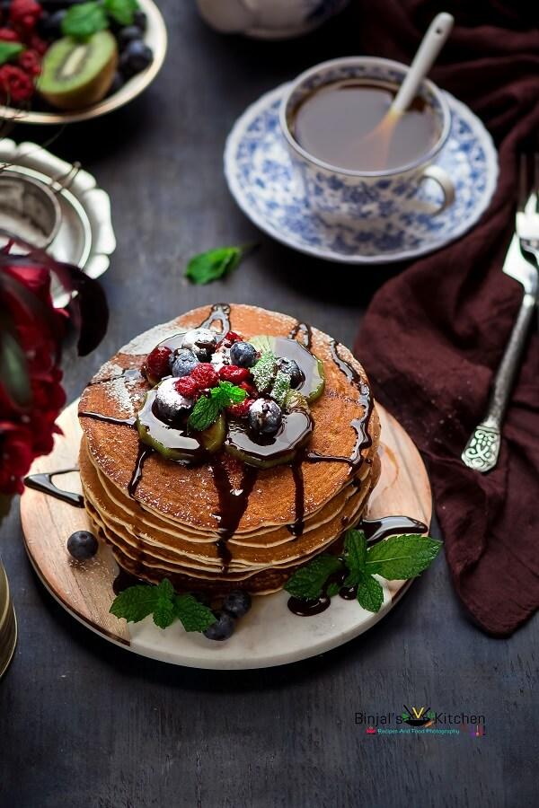 Easy Quick Vegan Cinnamon Pancakes