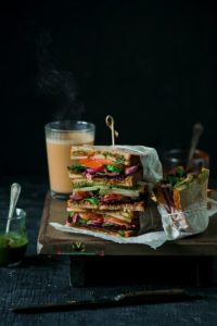 Bombay Sandwich (Indian Style Club Sandwich)