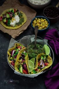 Roasted Corn and Tomatillos Salsa Tacos