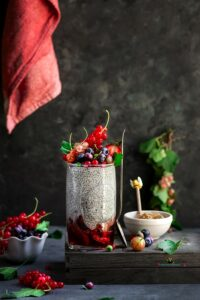 Strawberry Rhubarb Chia Pudding