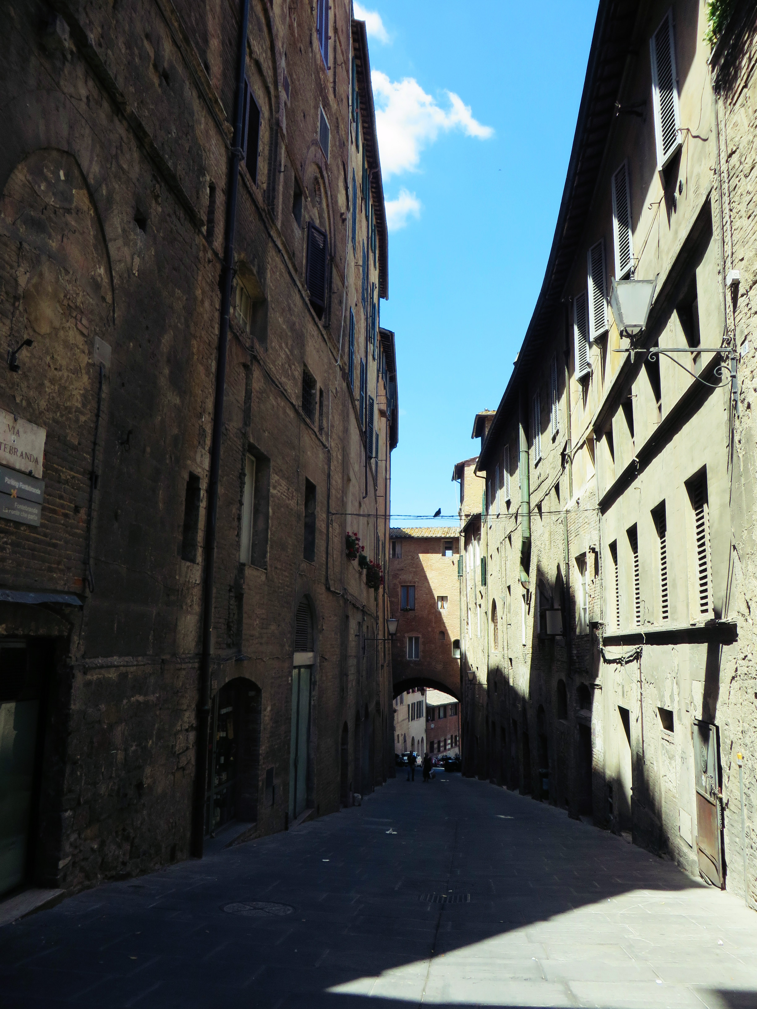 A seemingly sleepy street in vibrant Siena