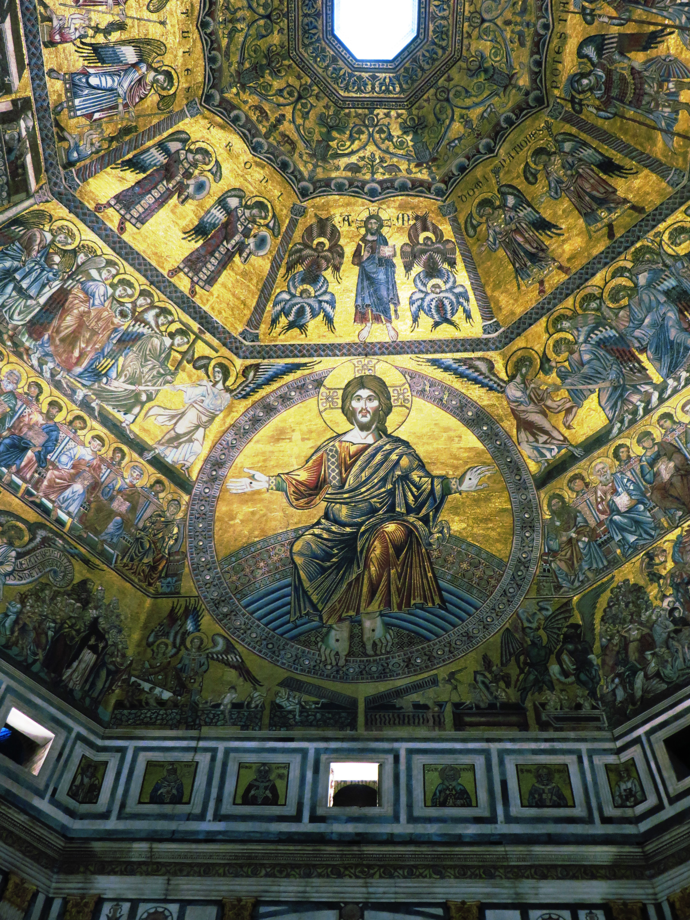 Portion of the mosaics of the cupola of the Baptistry, Florence