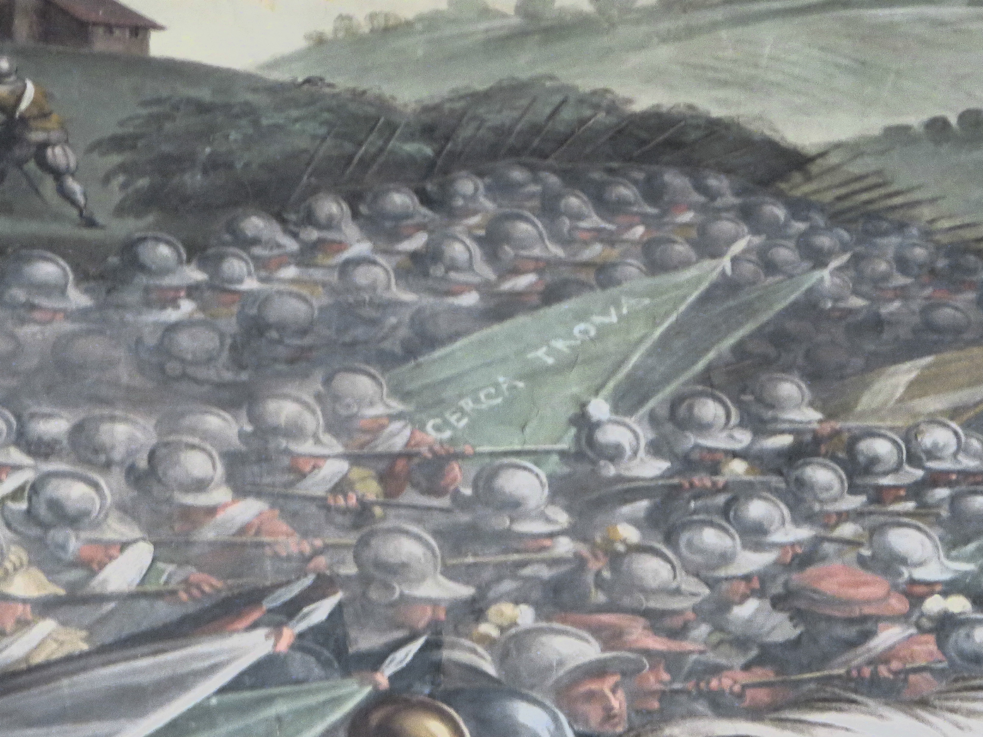 The Battle of Marciano painting, Florence
