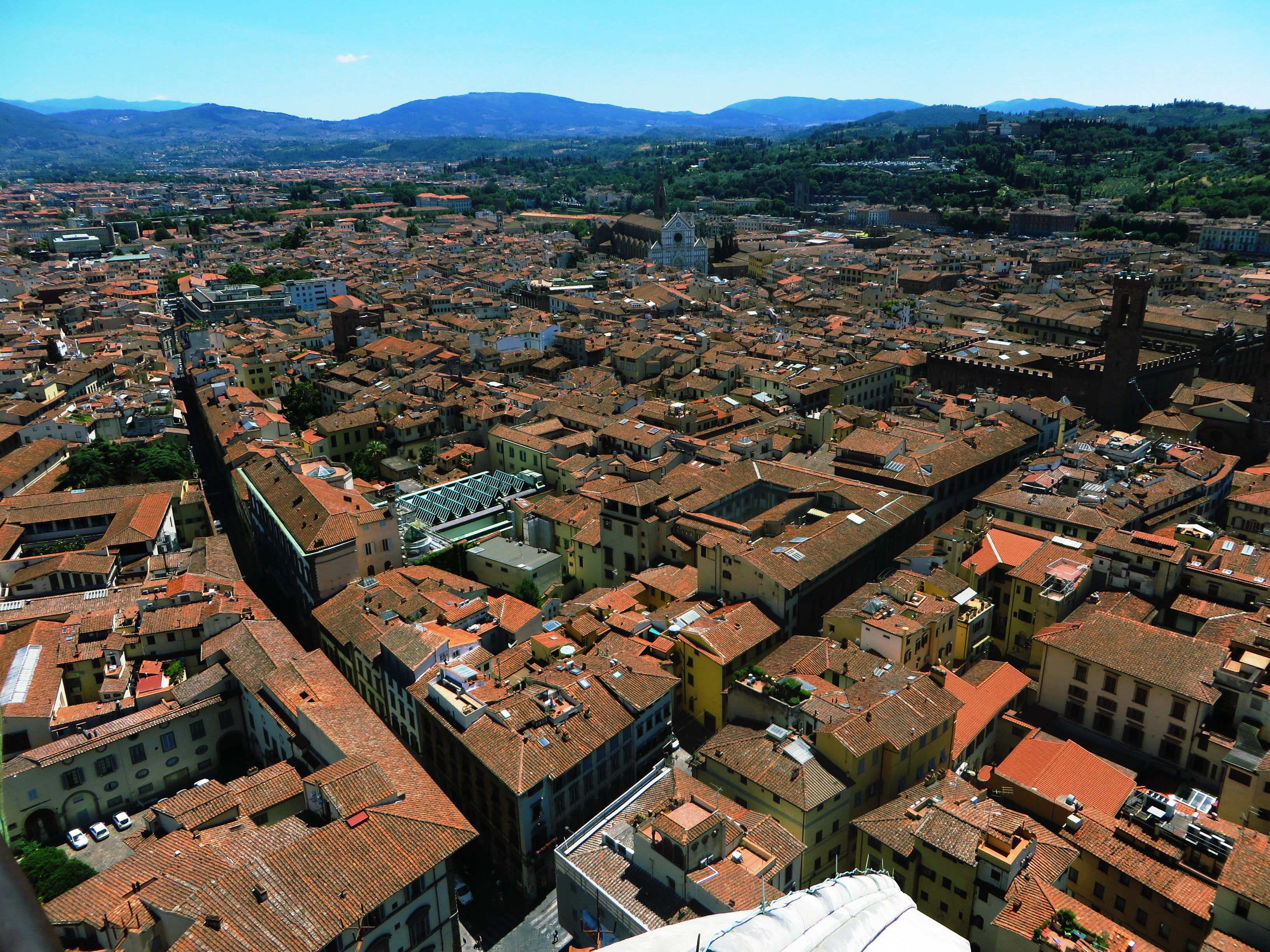 Views from the top of the Duomo, Florence