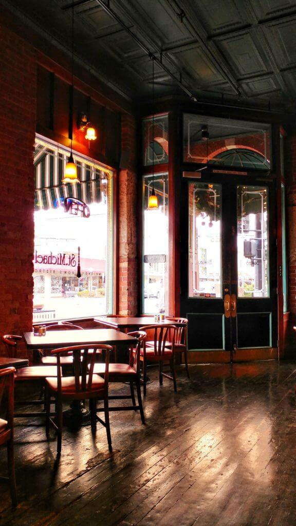 Bistro St. Michael is a restored bar/eatery from 1901 serving breakfast, lunch and dinner.