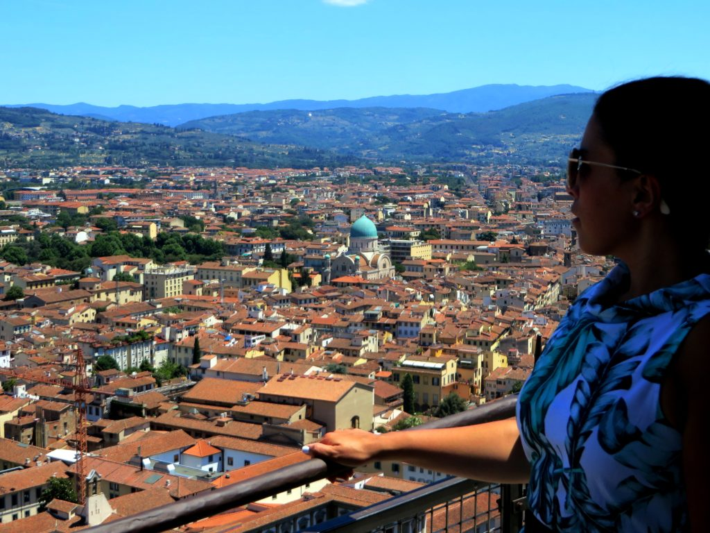 View from the top of Florence's Duomo overlooking the city of Florence.