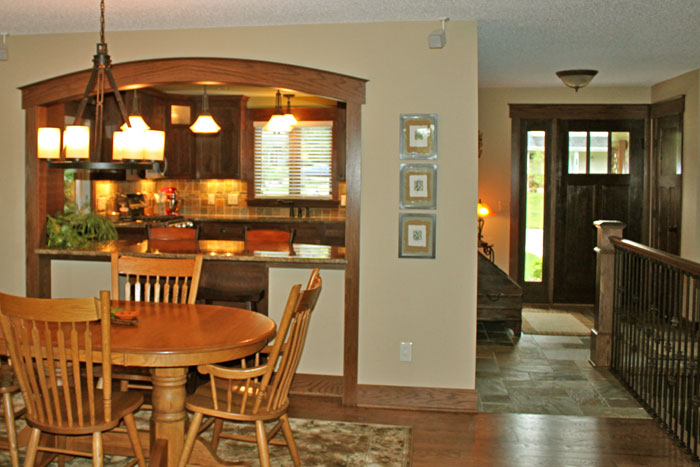Kitchen, Dining Room and Entry