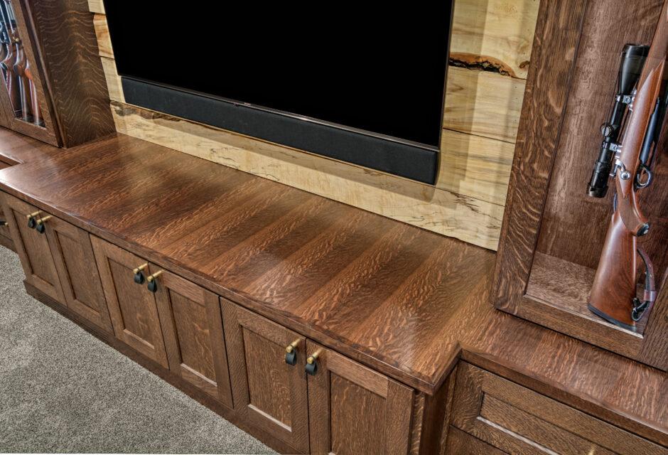 TV cabinet detail