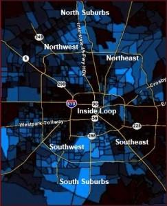 Houston Black Population Map 2 Houston In Black
