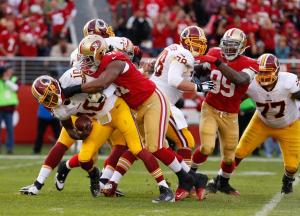 Redskins foram dominados em San Francisco