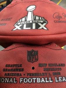 Bola do Super Bowl 49 : por enquanto está murcha