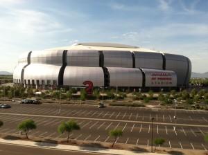 Grandioso palco do Super Bowl 49