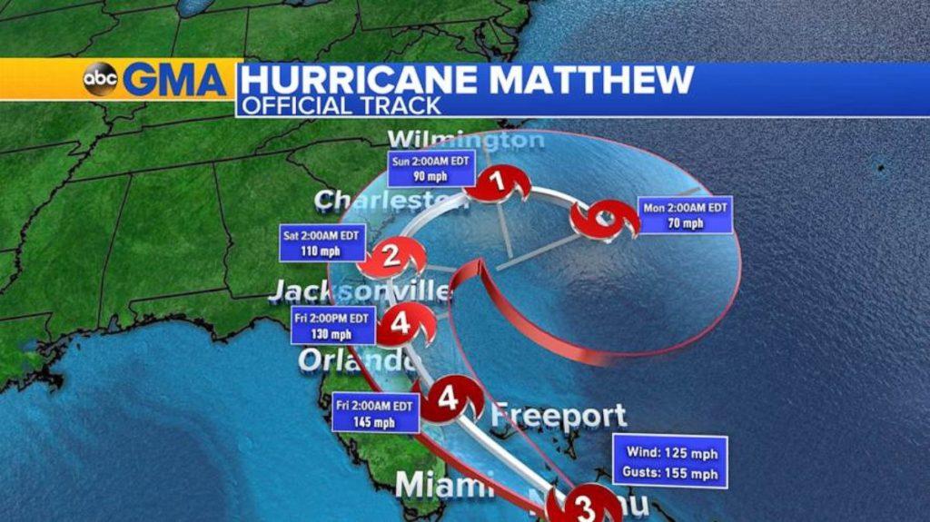 Furacão Matthew passará pela Flórida nesta sexta e sábado