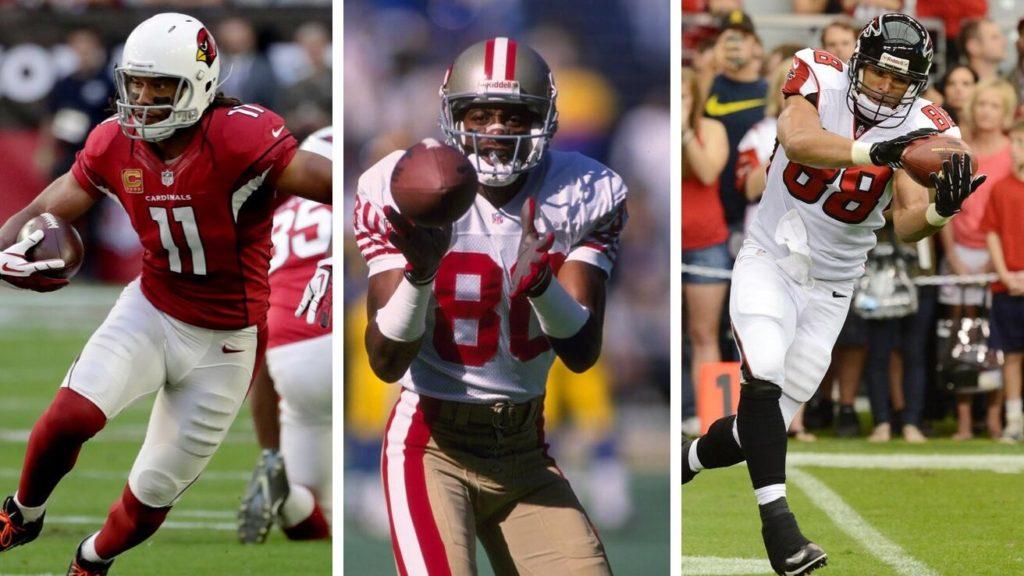 Top 3 da NFL em jardas recebidas: Rice, Gonzalez e Fitzgerald