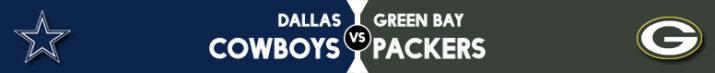 Dallas Cowboys x Green Bay Packers na semana 5