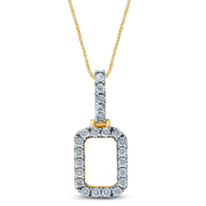 10K 0.17-0.20CT D-PENDANT RDS INITIAL O